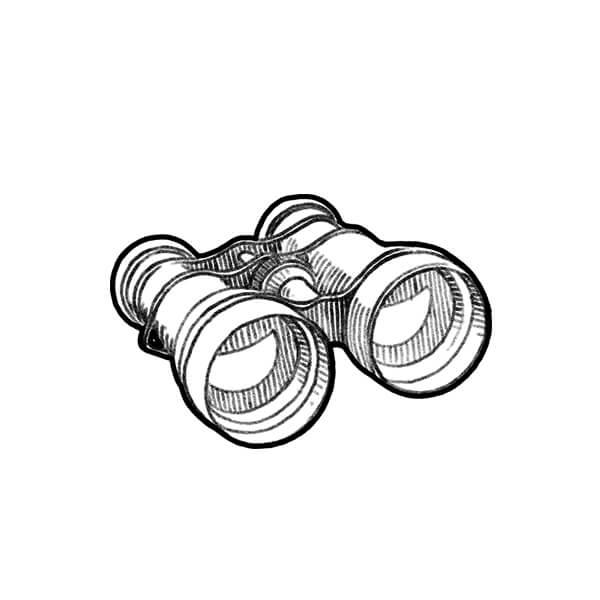 Illustration of a pair of binoculars