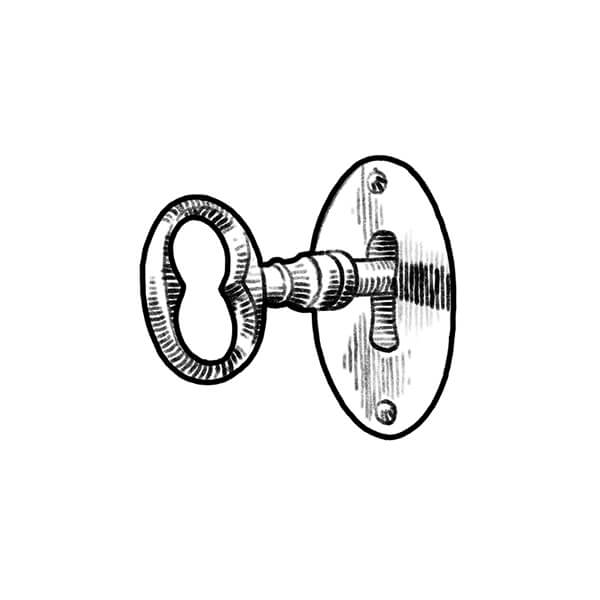 Lock and Key Illustration